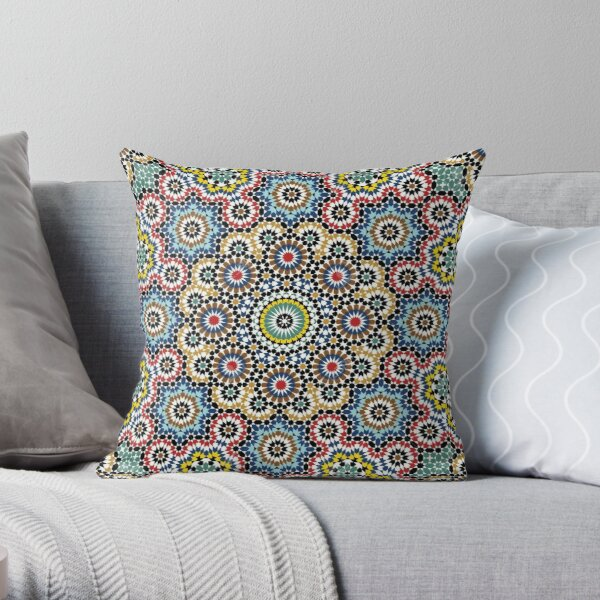 Mandala Moroccan Cushion Throw Pillow