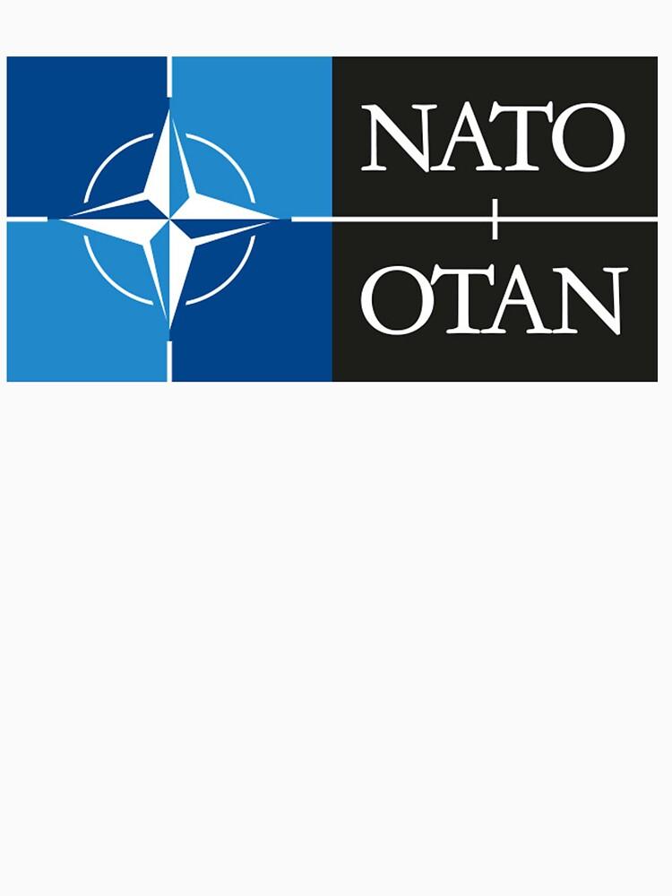 NATO. Logo of the North Atlantic Treaty Organisation, North Atlantic Alliance. by TOMSREDBUBBLE