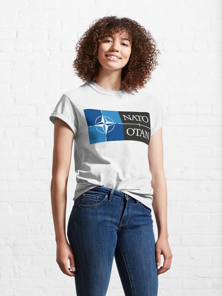 Alternate view of NATO. Logo of the North Atlantic Treaty Organisation, North Atlantic Alliance. Classic T-Shirt