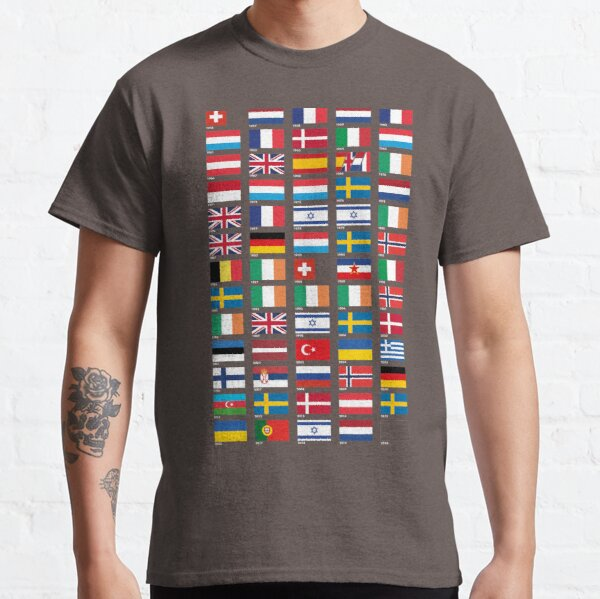 Every Eurovision Song Contest Winner's Flag Classic T-Shirt