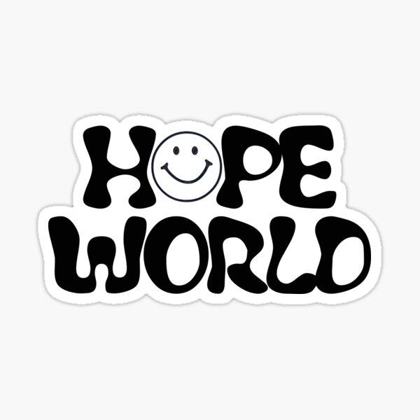 Logotipo de Hope World Pegatina