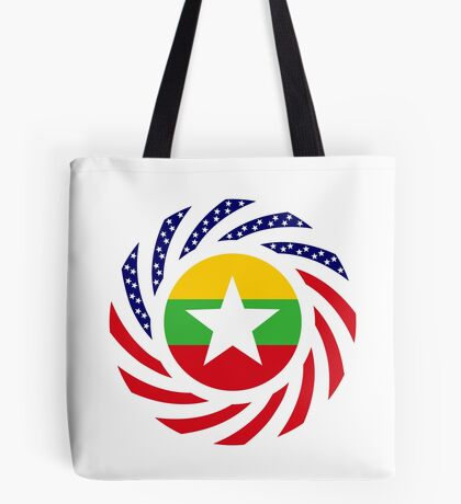 Myanmar American Multinational Patriot Flag Series Tote Bag