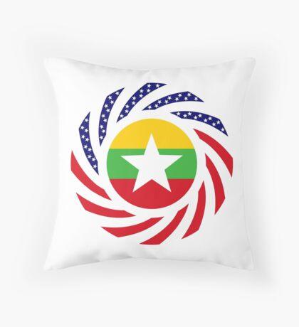 Myanmar American Multinational Patriot Flag Series Throw Pillow