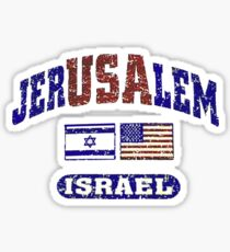 JerUSAlem: Israel Supports Israel Sticker