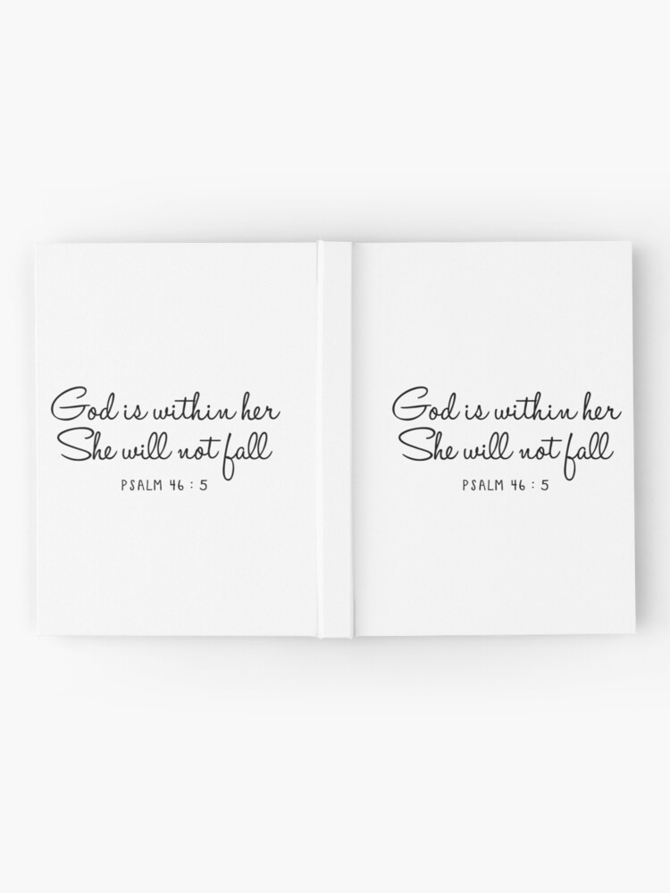 Alternate view of Psalm 46:5 Hardcover Journal