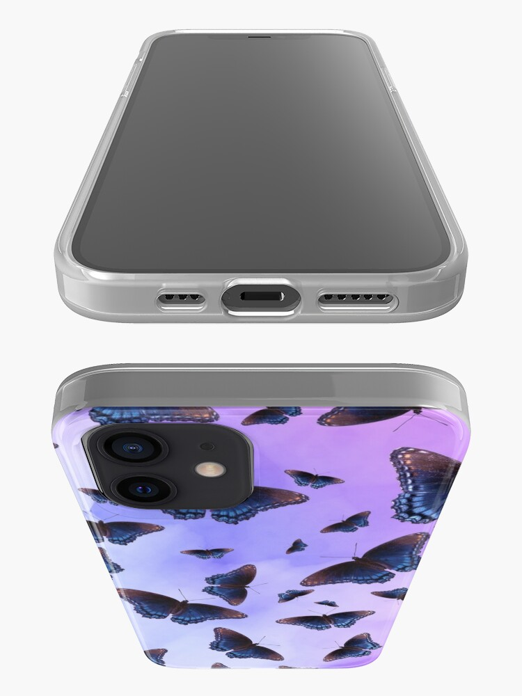 Alternate view of Blue Wing Butterflies Evening Purple Haze iPhone Case & Cover