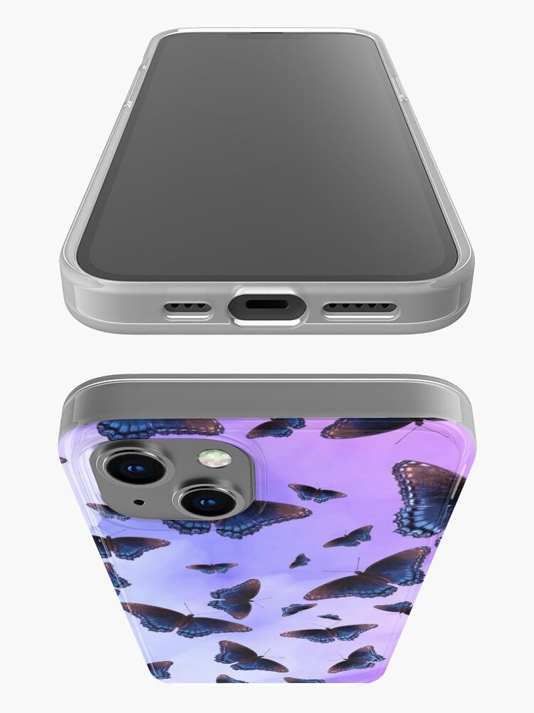 Alternate view of Blue Wing Butterflies Evening Purple Haze iPhone Case
