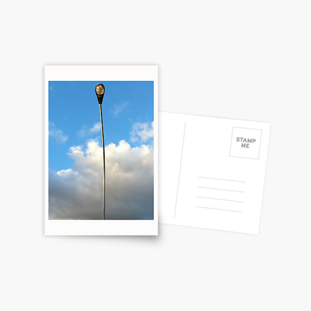 Just a lampost having a nice day behind it Postcard