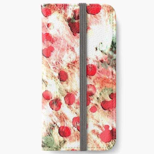 Pink Red Dirty Polka Dot Grunge iPhone Wallet