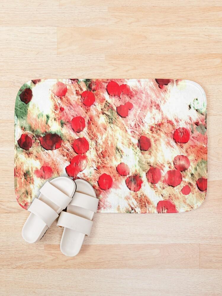 Alternate view of Pink Red Dirty Polka Dot Grunge Bath Mat