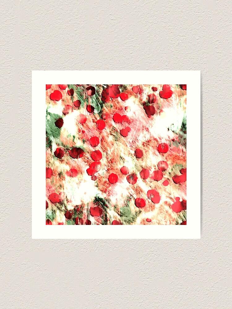 Alternate view of Pink Red Dirty Polka Dot Grunge Art Print