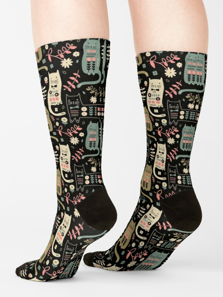 Alternate view of Cat Folk  Socks