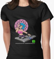 Enlightened DJ Girl - July 2012 CRUNKECOWEAR.NET BEGREENRECORDS.NET Women's Fitted T-Shirt
