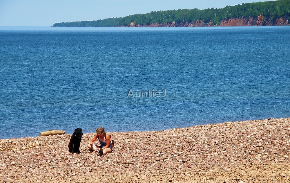 A Girl And Her Dog On A Summer's Afternoon by AuntieJ