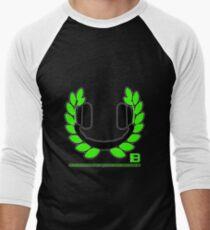 HEADPHONE WREATH - JULY 2012 MERCH - CRUNKECOWEAR.NET BEGREENRECORDS.NET Men's Baseball ¾ T-Shirt
