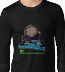 SIMPLE-CARTOON-DJ-GUY - JULY 2012 MERCH - CRUNKECOWEAR.NET BEGREENRECORDS.NET Long Sleeve T-Shirt