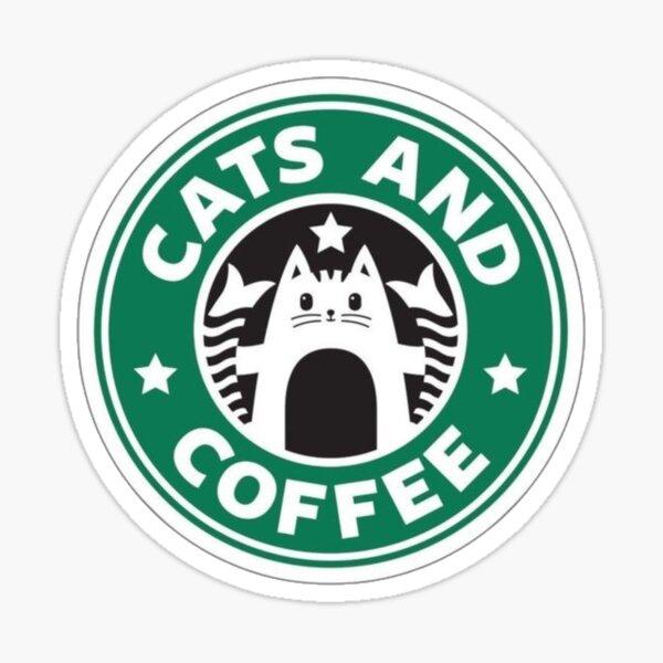 Cat and coffee  sticker Sticker