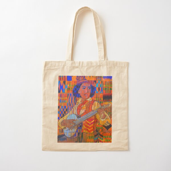 Banjo: Five Strings Cotton Tote Bag