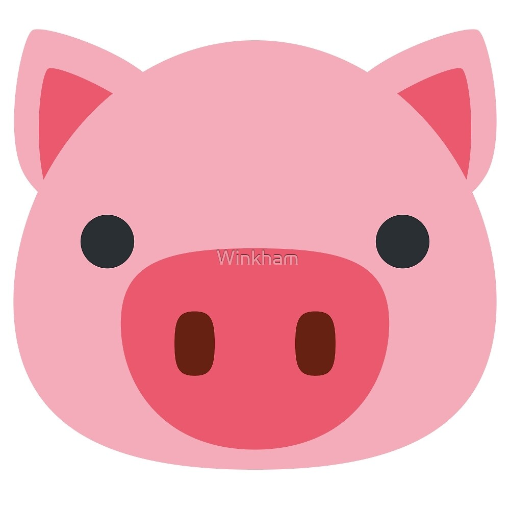 Quot Pig Face Emoji Quot By Winkham Redbubble