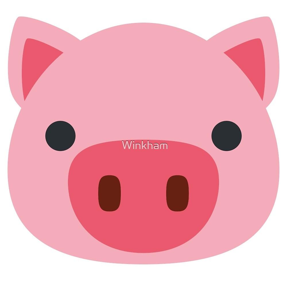 quotpig face emojiquot by winkham redbubble
