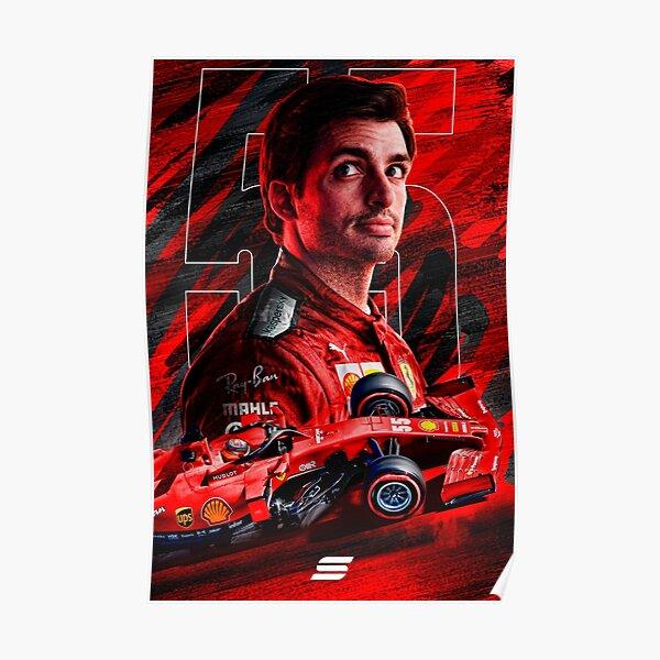 Affiche Carlos Sainz Ferrari Poster