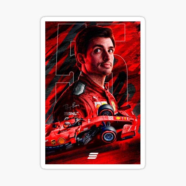 Carlos Sainz Ferrari Poster Pegatina