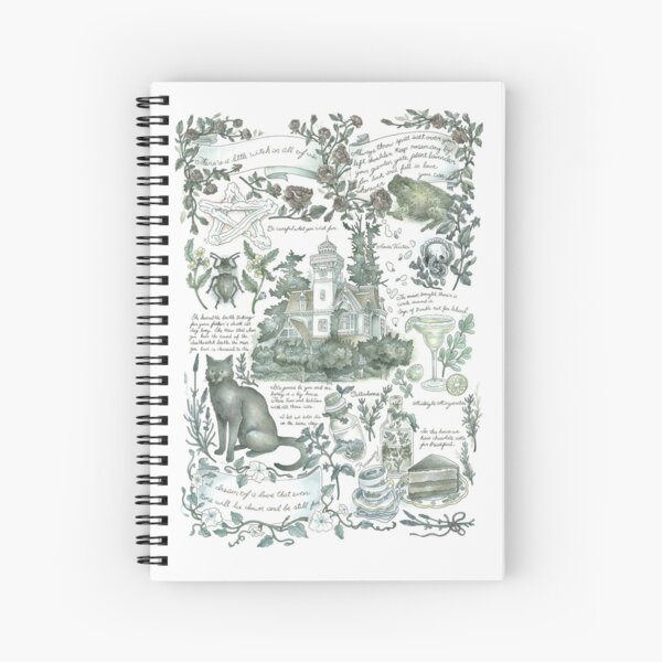 Practical Magic Inspired Journal Page Spiral Notebook