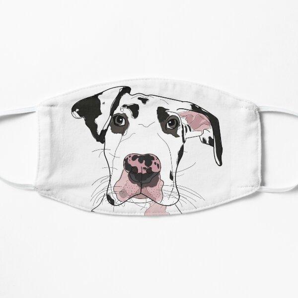 Great Dane b/w/pink dog Mask