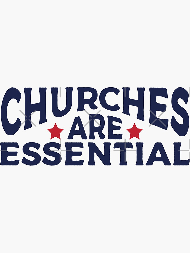 Churches Are Essential Hand Lettered Religious Saying by PeculiarMe