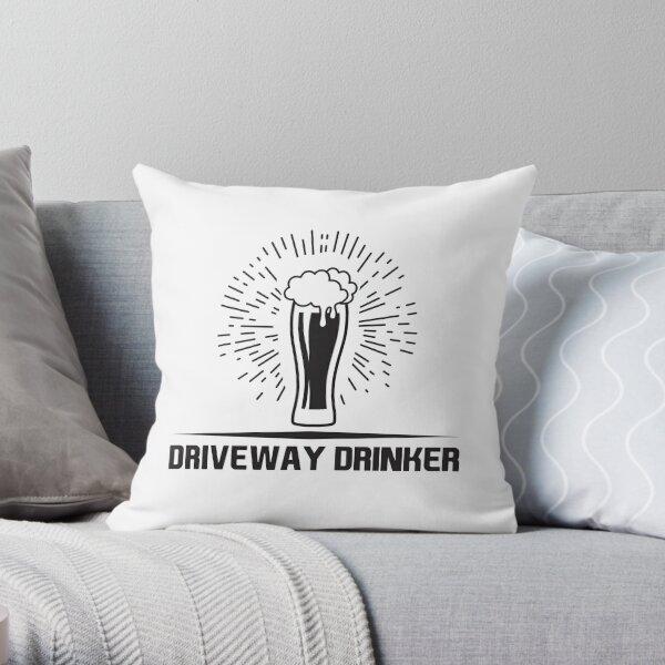 Driveway Drinker Throw Pillow