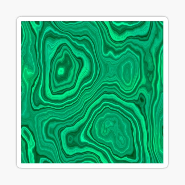 Lighter Malachite Sticker