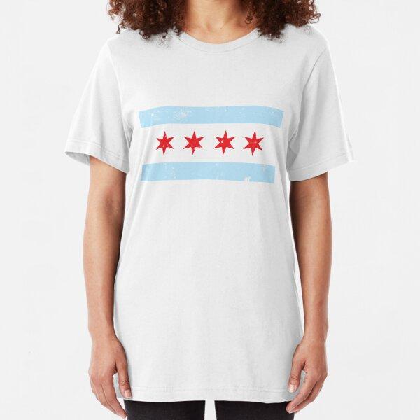 Chicago Flag Slim Fit T-Shirt