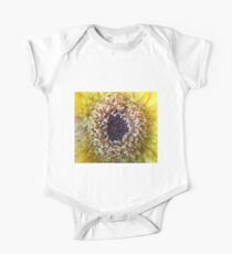 Macro Yellow Flower Center One Piece - Short Sleeve