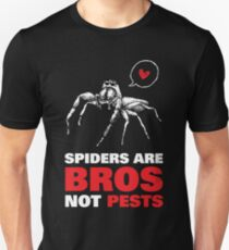 Spiders are bros, not pests Unisex T-Shirt