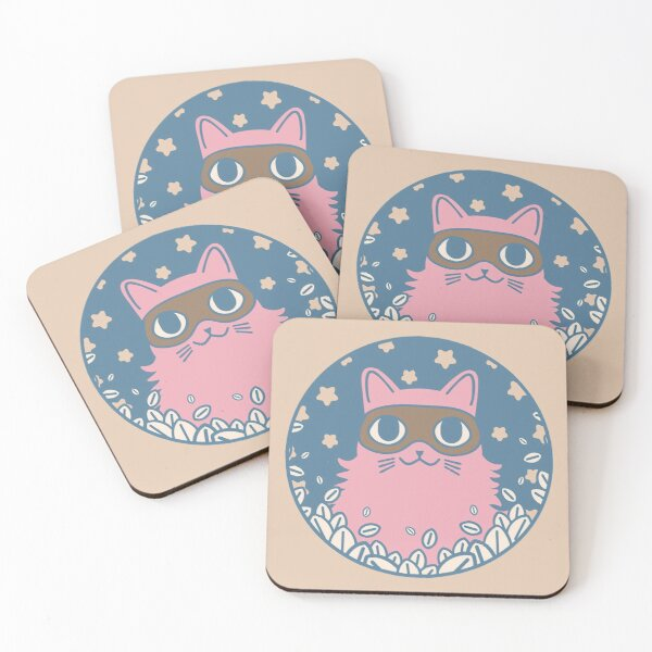 Cat Bandit IV Coasters (Set of 4)