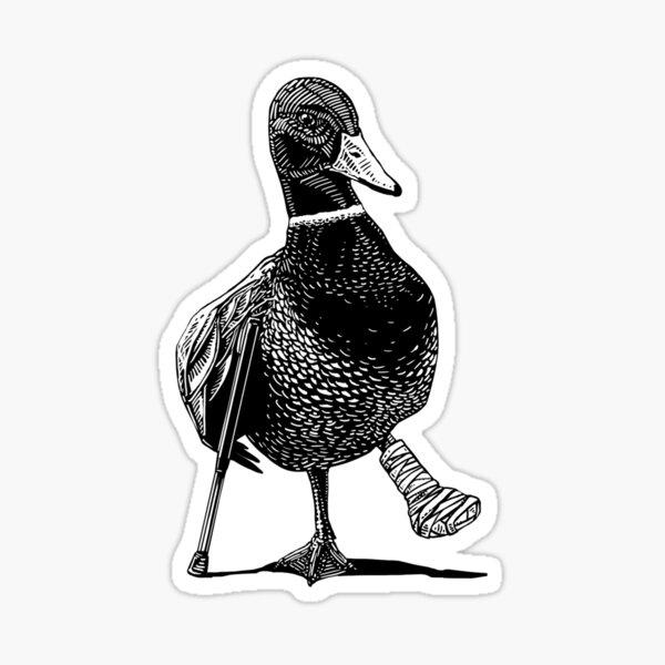 Lame Duck Animal Humor Sticker