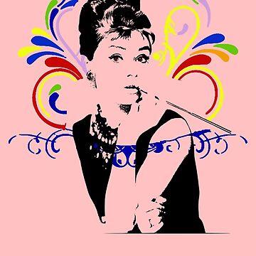 Audrey hepburn t-shirt by ralphyboy