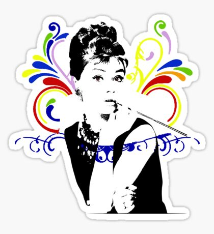 Audrey hepburn t-shirt Sticker