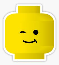 Minifig Winking Head by Customize My Minifig Sticker