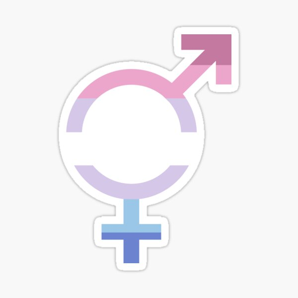Bigender Symbol/Flag Sticker