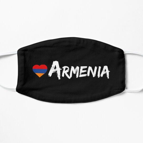 Love Armenia Country Flag Heart Patriot Gift Black Background Mask