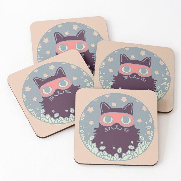 Cat Bandit III Coasters (Set of 4)