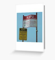 Kapu Greeting Card