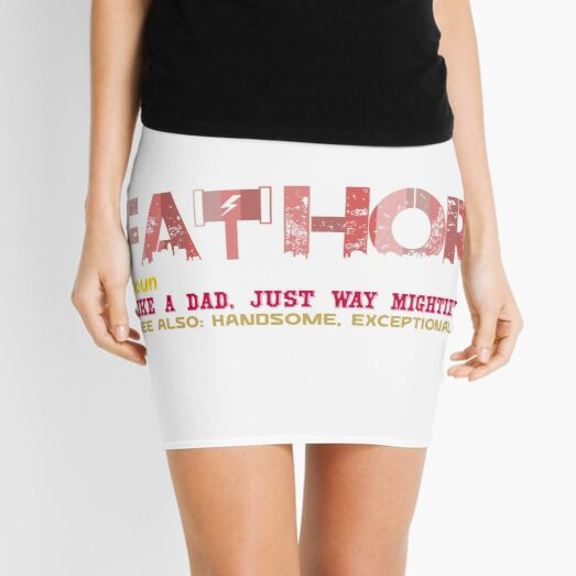 Copy of Fathor Like A Dad Just Way Mightier Mini Skirt