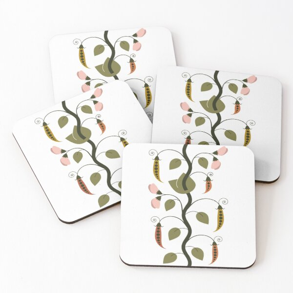 Heritage Peas Coasters (Set of 4)