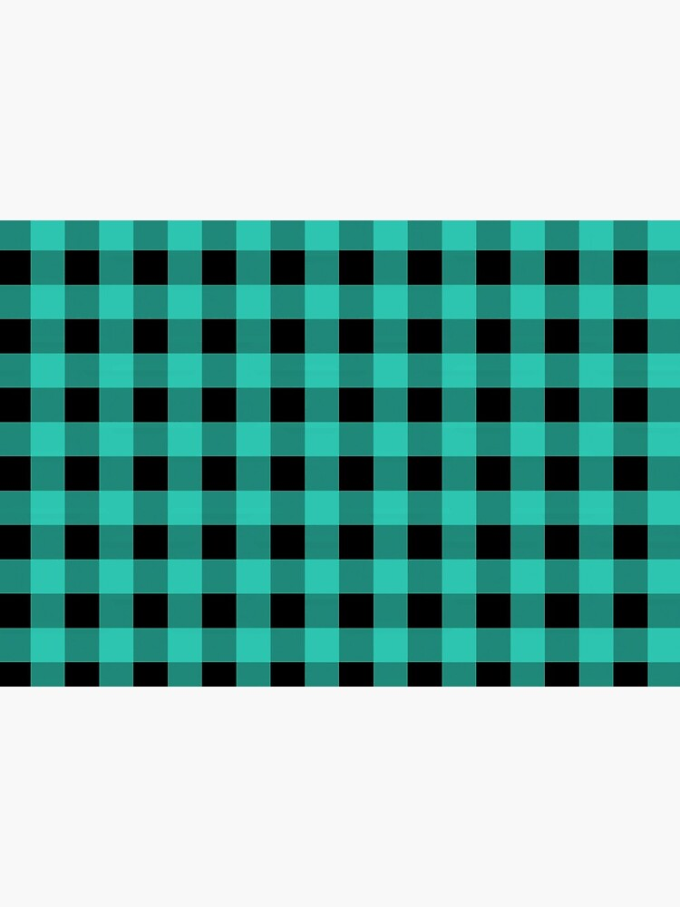 Turquoise Buffalo Plaid Pattern by RootSquare