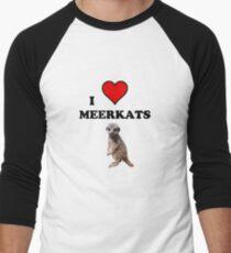I Heart Meerkats (T-Shirt & Sticker ) Men's Baseball ¾ T-Shirt