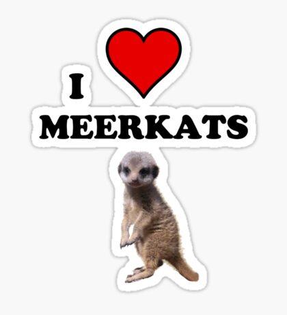 I Heart Meerkats (T-Shirt & Sticker ) Sticker