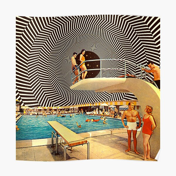 Illusionary Pool Party Poster