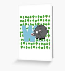 w for wild board Greeting Card